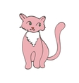Hand drawn of cute domestic cat vector image