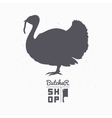 Farm bird silhouette turkey meat butcher shop vector