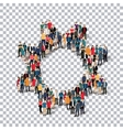 gear people sign 3d vector image