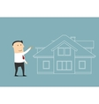 Businessman planning to buy a home vector image