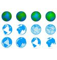 collection of planets vector image vector image