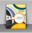 brochure design business vector image