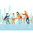 Business meeting People talking and working in vector image