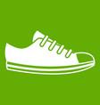 canvas sneaker icon green vector image