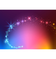 Colorful Sparkling Stream Effect vector image