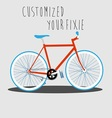 Customized Your Fixie 1 vector image