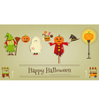 Halloween Poster - Symbols and Signs of October vector image