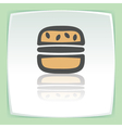 outline hamburger fast food icon Modern vector image