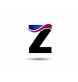 Letter Z logo icon design template vector image