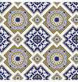 classic vintage seamless pattern in blue vector image