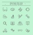 big set of symbols of ophthalmology vector image