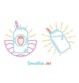 Smoothie jar vector image