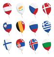 flag balloons vector image vector image