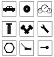 Auto parts icon vector image