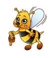 cartoon bee isolated vector image