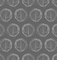 Decorative seamless pattern drawings of circles vector image