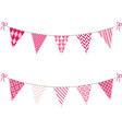 Pink Bunting Flag set vector image