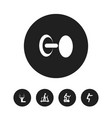set of 5 editable fitness icons includes symbols vector image