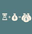 time money more money profit concept vector image