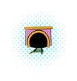 Tunnel icon comics style vector image