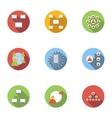 World internet icons set flat style vector image