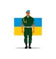 Ukrainian army soldier Cartoon vector image