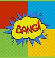 pop art bang logo vector image