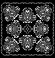 black and white abstract bandana print vector image