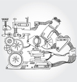mechanism hand drawn vector image vector image