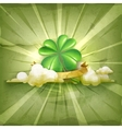 Lucky Clover old style background vector image vector image