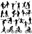 group of active children vector image vector image