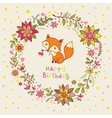 party invitation with fox vector image vector image