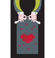 Knitted Love vector image vector image