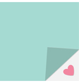 Adhesive paper note Heart under corner Template vector image