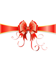 Bow and ribbon vector image