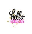 hello gorgeous graffiti vector image