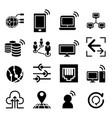 network idea concept icon vector image