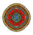 Ornament color mandala vector image