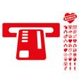 ticket machine icon with dating bonus vector image