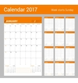Print Template Monthly Calendar Planner vector image