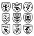 set of Karaoke labels badges etc vector image