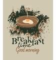 restaurant with breakfast vector image