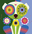 lemur in love poster vector image vector image