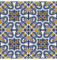 classic vintage seamless pattern in blue and vector image