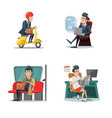 businessman at work business lifestyle vector image