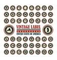 Vintage label USA set vector image