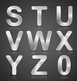 Metallic Silver Alphabet Set vector image