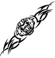 Jaguar and tribals - vector image