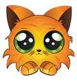 Cartoon red kitten vector image