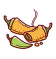 hot stuffed chiles rellenos isolated cartoon vector image
